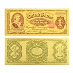 1891 $1 Martha Washington Note -  Uncirculated Gold Foil