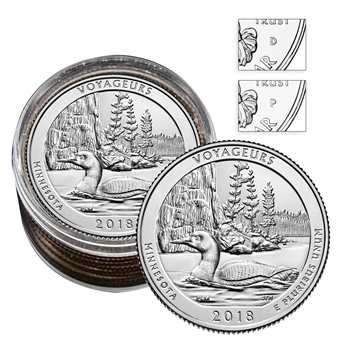 2018 Voyageurs National Park - Roll of 10 ( 5 P / 5 D )