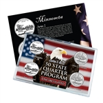 Minnesota Series 1 & 2 - Four Piece Quarter Set - Uncirculated