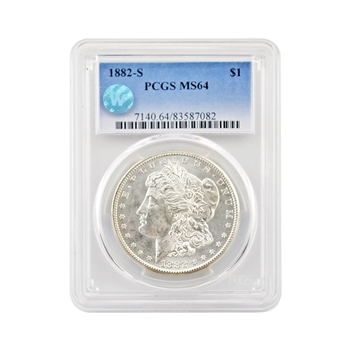 1882 Morgan - San Francisco - PCGS 64 Sight White