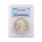 1884 Morgan - New Orleans - PCGS 64 Sight White