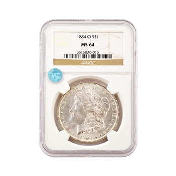 1884 Morgan - New Orleans - NGC 64 Sight White