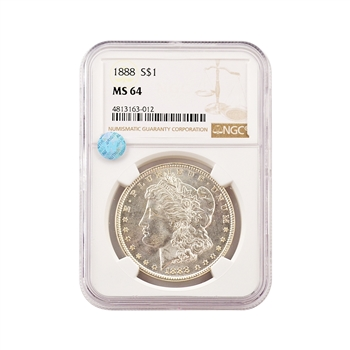 1888 Morgan - Philadelphia - NGC 64 Sight White