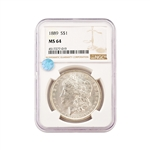 1889 Morgan - Philadelphia - NGC 64 Sight White