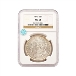 1896 Morgan - Philadelphia - NGC 64 Sight White