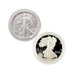 1986 Silver Eagle 2pc - Uncirculated & Proof