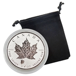 2018 Canadian Maple Leaf with Bison - 1 oz. Silver - Reverse Proof
