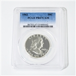 1962 Franklin Half Dollar  Proof PCGS 67 Cameo