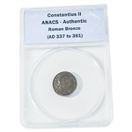 Roman Bronze ( 337 to 375 AD ) - ANACS Certified Authentic