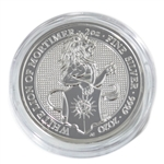 2020 Queens Beast - 2 oz Silver - The White Lion– Uncirculated