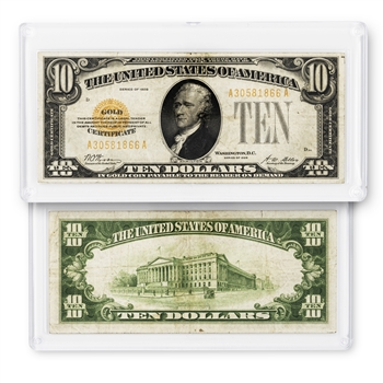 $10 Gold Certificate Small Size - Circulated