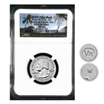 2020 Samoa Baby Bat Qtr  - West Point - NGC 65 Early Release