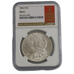 1884 Morgan Dollar - New Orleans - NGC 63 Red Book Label