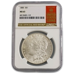 1885 Morgan Dollar - New Orleans - NGC 63 Red Book Label