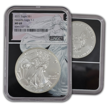 2021 Silver Eagle - Type 1 - Eagle Core - NGC 69