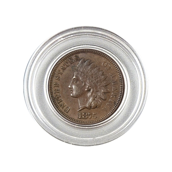 1875 Indian Head Cent - Circulated - Capsule