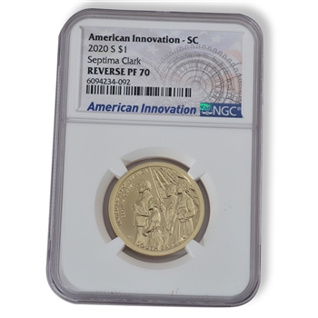 2020 South Carolina Innovation Dollar - Rev Proof - NGC 70