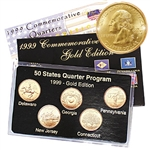 1999 Quarter Mania Uncirculated Set - Gold - P Mint