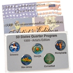 1999 Hand Enameled Quarter Set