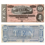 $10 Confederate Bank Note - Circulated