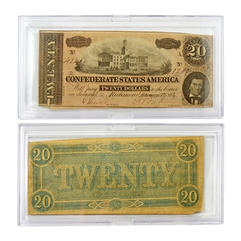 $20 Confederate Bank Note - Circulated