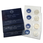 1971 to 1974 Eisenhower Silver Dollars 4 pc - Blue Packs