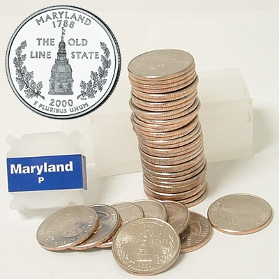 2000 Maryland Quarter Roll - Philadelphia Mint - Uncirculated