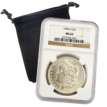 1904 Morgan Dollar - New Orleans ( O ) - Certified 63