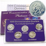 1999 Quarter Mania Uncirculated Set - Platinum D Mint