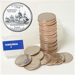 2000 Virginia Quarter Roll - Philadelphia Mint
