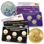 1999 Quarter Mania Precious Metal Set - Gold P / Plat D