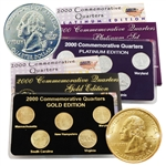 2000 Quarter Mania Precious Metal Set - Gold P / Plat D