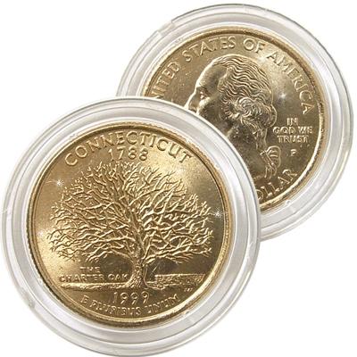 1999 Connecticut 24 Karat Gold Quarter - Philadelphia