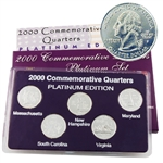 2000 Quarter Mania Uncirculated Set - Platinum D Mint