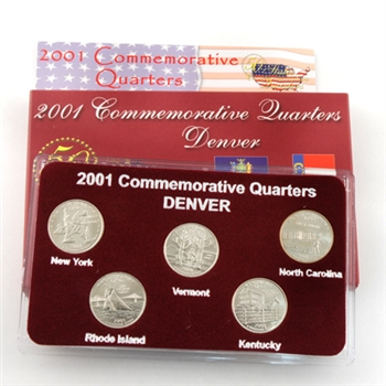 2001 Quarter Mania Uncirculated Set - Denver Mint