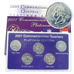 2001 Quarter Mania Uncirculated Set - Platinum D Mint