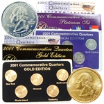 2001 Quarter Mania Precious Metal Set - Gold P / Plat D