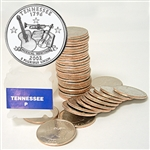 2002 Tennessee Quarter Roll - Philadelphia Mint