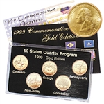 1999 Quarter Mania Uncirculated Set - Gold - D Mint