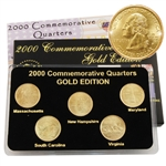 2000 Quarter Mania Uncirculated Set - Gold - D Mint
