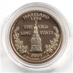 2000 Maryland Proof Quarter - San Francisco Mint
