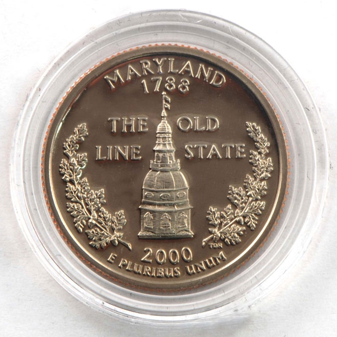 2000 Maryland Proof Quarter - San Francisco Mint
