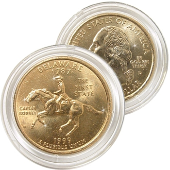 1999 Delaware 24 Karat Gold Quarter - Denver