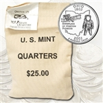 2002 Ohio $25 Government Bag Philadelphia Mint Quarters – Uncirculated
