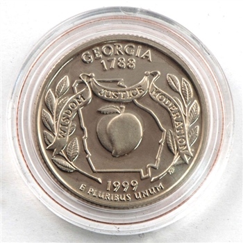 1999 Georgia Proof Quarter - San Francisco Mint