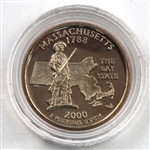 2000 Massachusetts Proof Quarter - San Francisco Mint