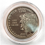 2000 New Hampshire Proof Quarter - San Francisco Mint