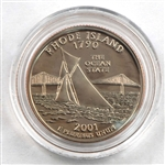 2001 Rhode Island Proof Quarter - San Francisco Mint