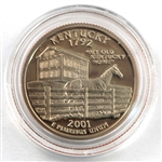 2001 Kentucky Proof Quarter - San Francisco Mint
