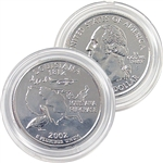 2002 Louisiana Platinum Quarter - Denver Mint